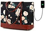 BLUBOON Laptop Tote Bag Womens Waterproof Work Bag Teacher Bag with 15.6 USB Charging Laptop for Women with Purse Computer Bag