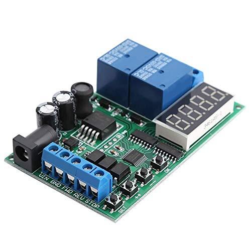 LIPENLI Controlador de Motor, 5V - 24V Controlador de Motor hacia adelante/atrás de temporización ciclos de Tiempo de retardo de retransmisión