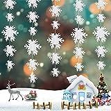 Guirnalda de copo de nieve,Adornos para Árbol de Navidad ,Guirnaldas Colgantes de Copo de Nieve 3D ,Decoración navideña de copo de nieve de invierno,Navidad Guirnalda Copos de Nieve del Papel Duro