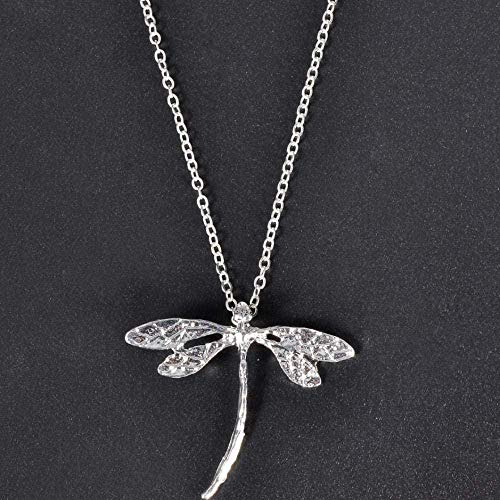 NC110 Collar con Colgante de libélula para Mujer, Collares de joyería YUAHAOJIGE8