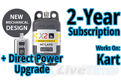 Best Price MyLaps X2 Transponder, Direct Power, for Karting, Includes 2-Year Subscription