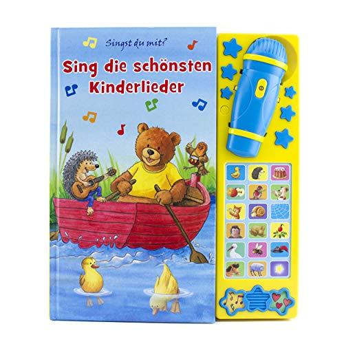 Karaokebuch - Die schönsten Kinderlieder - Liederbuch mit 18 Melodien, 2 Geräuschen - Soundbuch mit Stopptaste - Pappbilderbuch