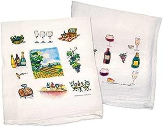 Wine Flour Sack Towels Set of 2 #16145