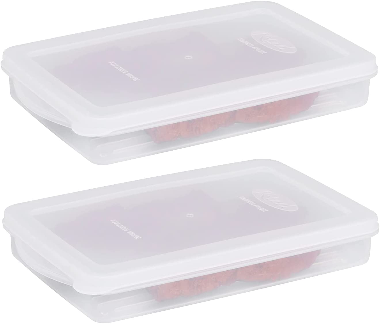 2-Pack Lunch Meat Containers With Chees Lids Cuts Financial Challenge the lowest price sales sale Airtight Cold