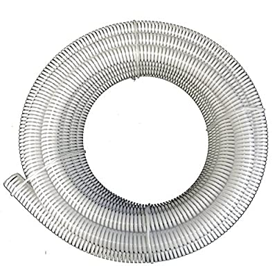 50 ft - HydroMaxx® Clear Flexible PVC Suction and Discharge Hose with White Reinforced Helix