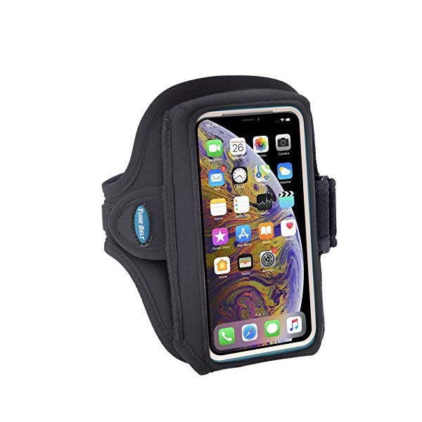 Tune Belt Model AB89 Armband for iPhone 11 Pro, SE (2020) X Xs 8 7 Samsung Galaxy S8 S9 S10e This size fits OtterBox Defender / Large Case – For Running & Working Out – Sweat-Resistant