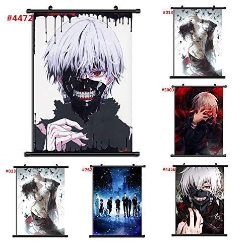 For Anime Tokyo Ghoul Kaneki Ken Wallscroll Poster Kunstdrucke Bider Drucke (#5112,40x60cm/16x24inches)