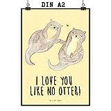 Mr. & Mrs. Panda Bild, Wanddeko, Poster DIN A2 Otter
