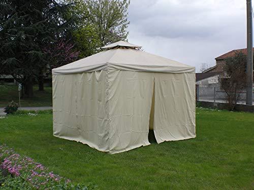 DISRAELI Set di 4 Tende per Gazebo Beige 260Xh190cm