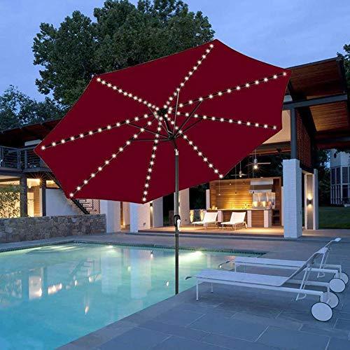 104 LED Sonnenschirm Mit Fernbedienung Patio Umbrella Light 8 Modi Sonnenschirmbeleuchtung wasserdicht Drahtlose Camping LED Lampe für Garten Strand Außenleuchten BBQ Party Camping (Kaltes Weiß)