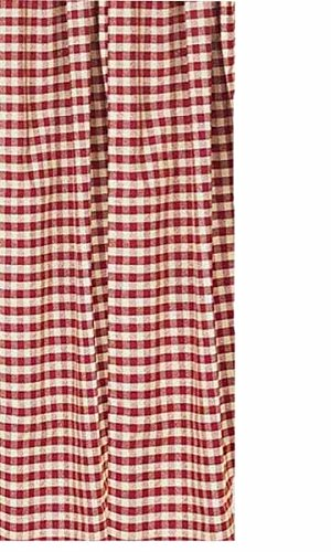 Home Collection by Raghu, Barn Red/Nutmeg Heritage House Check Shower Curtain, 72-Inch, 72 by 72
