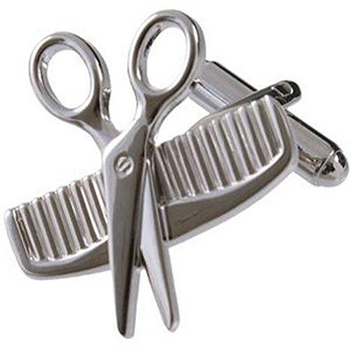 Select Gifts Collegamenti del bracciale barbiere gemelli~forbici e pettine Novità gemelli selezionare borsa regalo