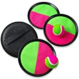 Kicko Toss and Catch Toys Paddle Mitts and Balls - 2 Sets Perfect for Sports, Beach, Birthday, Novelties, Event and Game Prizes, Educational, Party Favor and Supplies