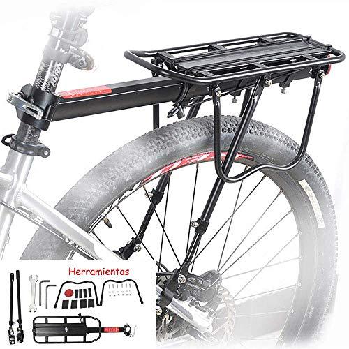 homelikesport Portaequipajes Trasero de Aluminio para Bicicleta Pequeñas Cargas,los Desplazamientos Cortos, el Porta Alforjas.