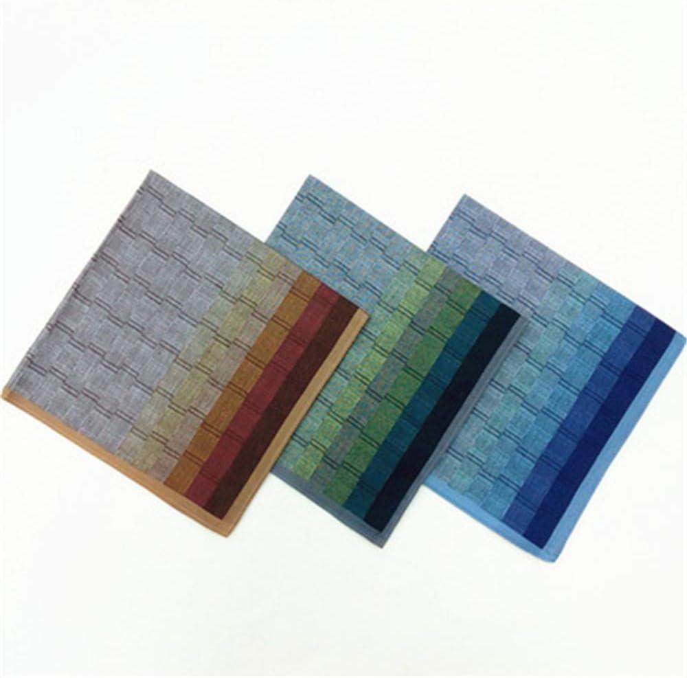 6Pcs Cotton Men's Handkerchief Gradient Color Pocket Square Men's Hankies for Wedding Party Gift Set