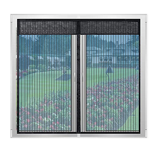 Lyeiaa 簡易網戸 網戸カーテン 虫よけ マグネット開閉式 窓用 スクリーン 張替え 自動で閉まる 間仕切り 換気 断熱 風通し