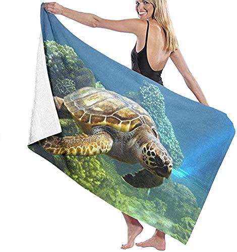 Turtle-Widescreen-Wallpapers-62189 Toallas de Playa Toallas de Piscina de SPA súper absorbentes de Secado rápido para Nadar y al Aire Libre 80x130cm