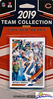 Chicago Bears 2019 Donruss NFL Football Limited Edition 10 Card Complete Factory Sealed Team Set with Mitchell Trubisky, Tarik Cohen, Khalil Mack, Brian Urlacher & Many More Stars & Rookies! WOWZZER!