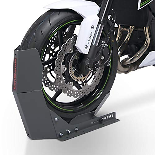 ConStands Easy Transport Fix - Motorrad Wippe für Anhänger Vorderrad Transportständer Motocross Roller ConStands Easy Transport-Fix grau matt
