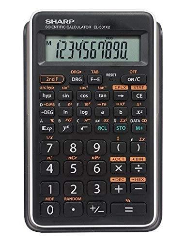 Sharp EL501X2BWH Engineering/Scientific Calculator 5 Pack
