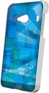 スマQ Qua phone QX KYV42 幾何学模様 丸 スマホケース ハードケース KYOCERA 京セラ キュアフォン キューエックス au ami_(A.ブルー)