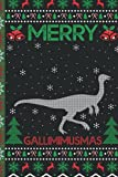 Ugly Gallimimus Christmas Composition Notebook: Gallimimus Lover Xmas Lighting Ugly Style Christmas Pajama Journals - Christmas Decoration Journal Notebook For Men, Women, Girls, Kids