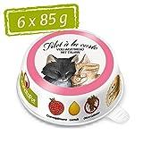GranataPet Filet à la Carte Huhn & Kaninchen, Nassfutter für Katzen, Filet-Stückchen ohne Getreide, Katzenfutter ohne Zuckerzusatz, hoher Fleischanteil, 6 x 85 g