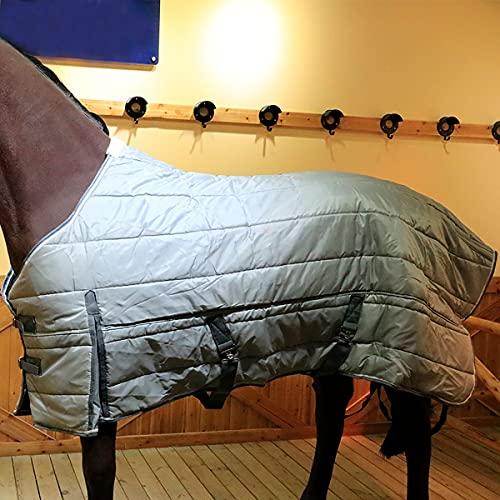 LXQLLJJD Impermeable y Ripstop Horse Turnut Manta, Follea Gruesa, manténgase de Manera efectiva, Llena de algodón 220 g, una Manta de Invierno cómoda para el Caballo,M