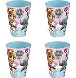 Theonoi 4 x Kinder Trinkbecher 260 ml/wählbar: Minnie - Princess - Frozen -PawPatrol Glas...