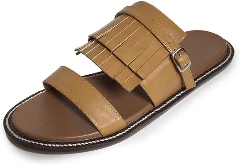 DecoStain Women's Retro Tassel Flat Sandals Ladies Casual Summer Beach Slippers