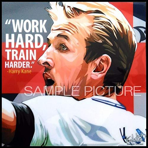 ハリー・ケイン イングランド代表 海外サッカーグラフィックアートパネル 木製 壁掛け インテリア ポスター