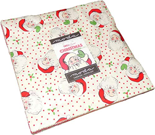 Swell & Sweet Christmas Layer Cake, 42-10' Precut Fabric Quilt Squares by Urban Chiks