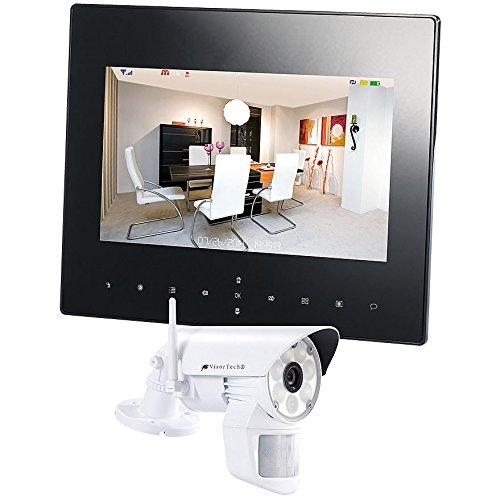 VisorTech Funk Videoüberwachung: Digitales Überwachungssystem DSC-720.mk mit LED-HD-Kamera, IP-Funktion (Überwachungskamera Monitor)