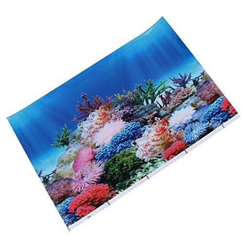 POPETPOP Adesivo per Pesci Sfondo Adesivo Adesivo Carta da Parati Bifacciale Poster Decorativo Fondale Subacqueo Immagine Decor per Acquario Acquario 42X30cm