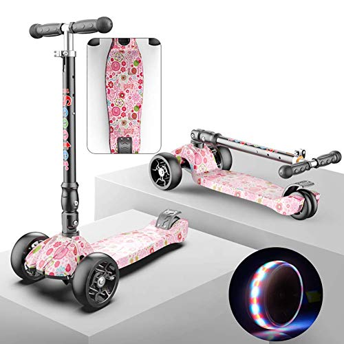 Lowest Prices! PLLP Child Foldable Scooter-Scooter Kick Folding Kids with Adjustable Handlebar, Pu F...