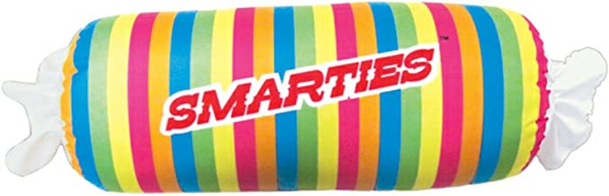 iscream Strawberry Scented Smarties Roll 24.75 Microbead Pillow