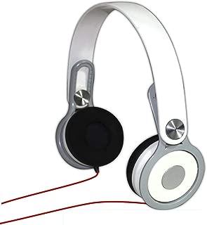 (Renewed) Adcom AHP-C611 Over Ear Wired Basic Headphone (White)