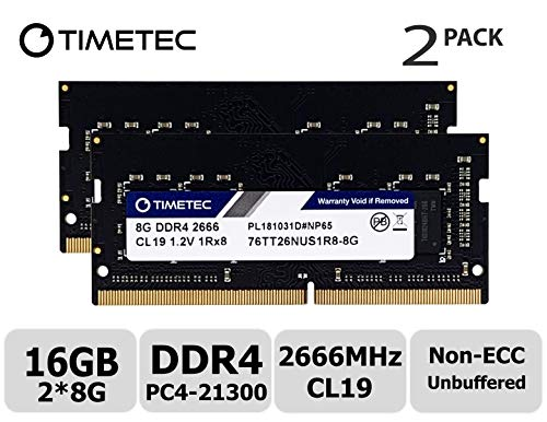 Timetec Hynix IC DDR4 2666MHz PC4-21300 1.2V CL19 2Rx8 260 Pin SODIMM laptop werkgeheugen 16GB(8GBx2)