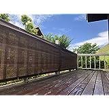 Nice Home(ナイスホーム)ベランダ 目隠し プライバシー UVカットバルコニー シェード モカ 600×80cm【3年間の安心保証】