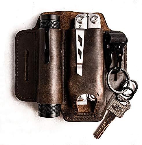 Gentlestache Leather Sheath for Leatherman Multitool Sheath EDC Pocket Organizer with Key Holder product image