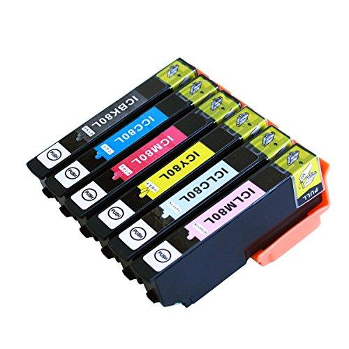 IC6CL80L 6色パック 増量版 EPSON (エプソン) 互換インク EP-707A/EP-777A/EP-807AB/EP-807AR/EP-807AW/EP-907F/EP-977A3/EP-808AW/EP-808AB/EP-808AR/EP-978A3/EP-708A