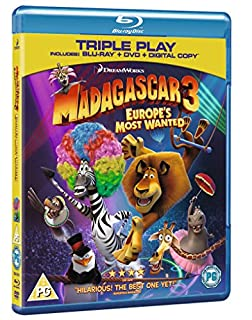 Madagascar 3: Europe's Most Wanted - Triple Play (Blu-ray + DVD + Digital Copy) [Region Free] (B009GXQFGA) | Amazon price tracker / tracking, Amazon price history charts, Amazon price watches, Amazon price drop alerts