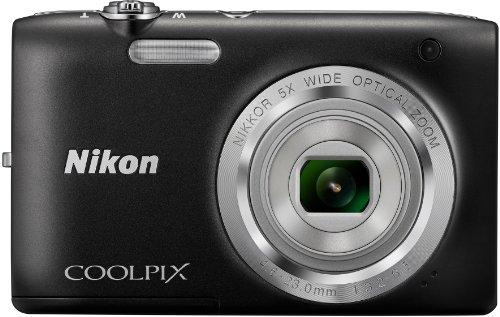 Nikon Coolpix S2800 Digitalkamera (20 Megapixel, 6-fach opt. Weitwinkel-Zoom, 6,9 cm (2,7 Zoll) LCD-Display, HD) schwarz