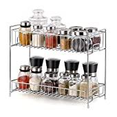 Vachan Creation Stainless Steel 2 Layer Spice Rack/Fruit & Vegetable Rack/Kitchen Storage Organizer and Bathroom Rack - [41 x 20 x 37 cm]