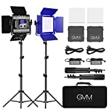 GVM 800D LED lampada video rgb con treppiede, controllo APP Luce video a colori RGB CRI97 Dimmerabile 3200K-5600K Illuminazione fotografica a LED per videocamera da studio Youtube, luce video a led