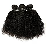 BLISSHAIR Lot de 3 Bresilienne Virgin Hair Baby Deep 8' court cheveux Bresilienne vierges de Tissages Lot de 150 g/Extensions de...