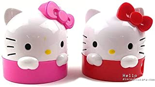 Sanrio Hello Kitty Character Pencil Sharpener School Supply Stationary : Pink or Red (1pc) (Red)