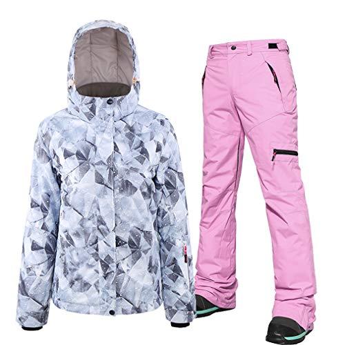 Dames skipak, ski-jack en broeken, set, winddicht, waterdicht, outfit, skiën, snowboard en ski-kostuum