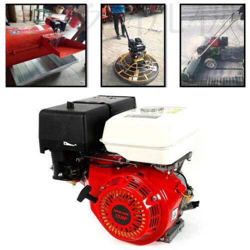 LOYALHEARTDY Gas Motor Engine 15 HP 4-Stroke Gas Power Engine 420cc Horizontal Motor OHV Forced Air Cooling Go Kart Motor DIY Engine Motor 9kw/3600r/min