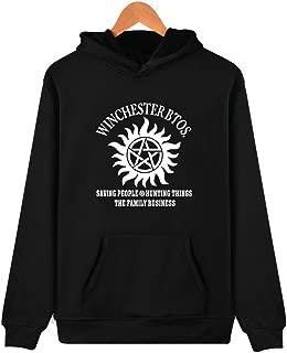 Team Dean da donna hoodie Felpa Supernatural Fun LOGO Pentacle Flaming Sam